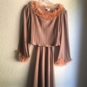 VINTAGE 1970s FEATHER DRESS